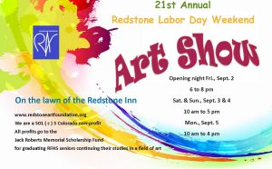 21st Redstone Labor Day Weekend Art Show @ 21st Annual Redstone Labor Day Weekend Art Show        
