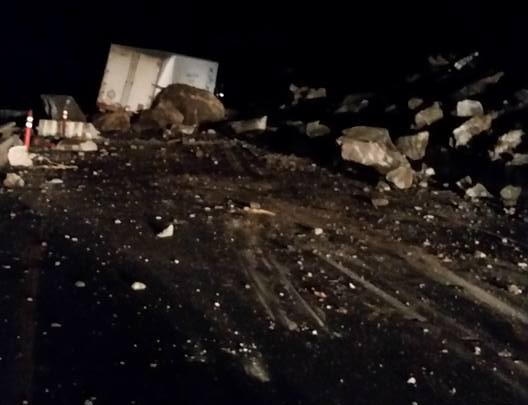 KMTS News Director Ron Milhorn was in Glenwood Canyon when the rock slide occurred Monday night and took this picture