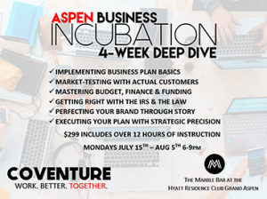 Aspen Business Incubation 4-week Deep-Dive @ The Marble Bar-Aspen | Carbondale | Colorado | United States